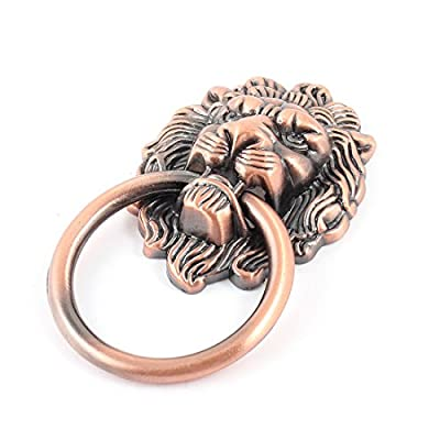 uxcell Lion Head Design Dresser Cupboard Door Pull Ring Handle Round Knob