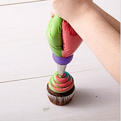 Icing Piping Bag Russian Nozzle Converter Coupler Cake Decorating Tools LC