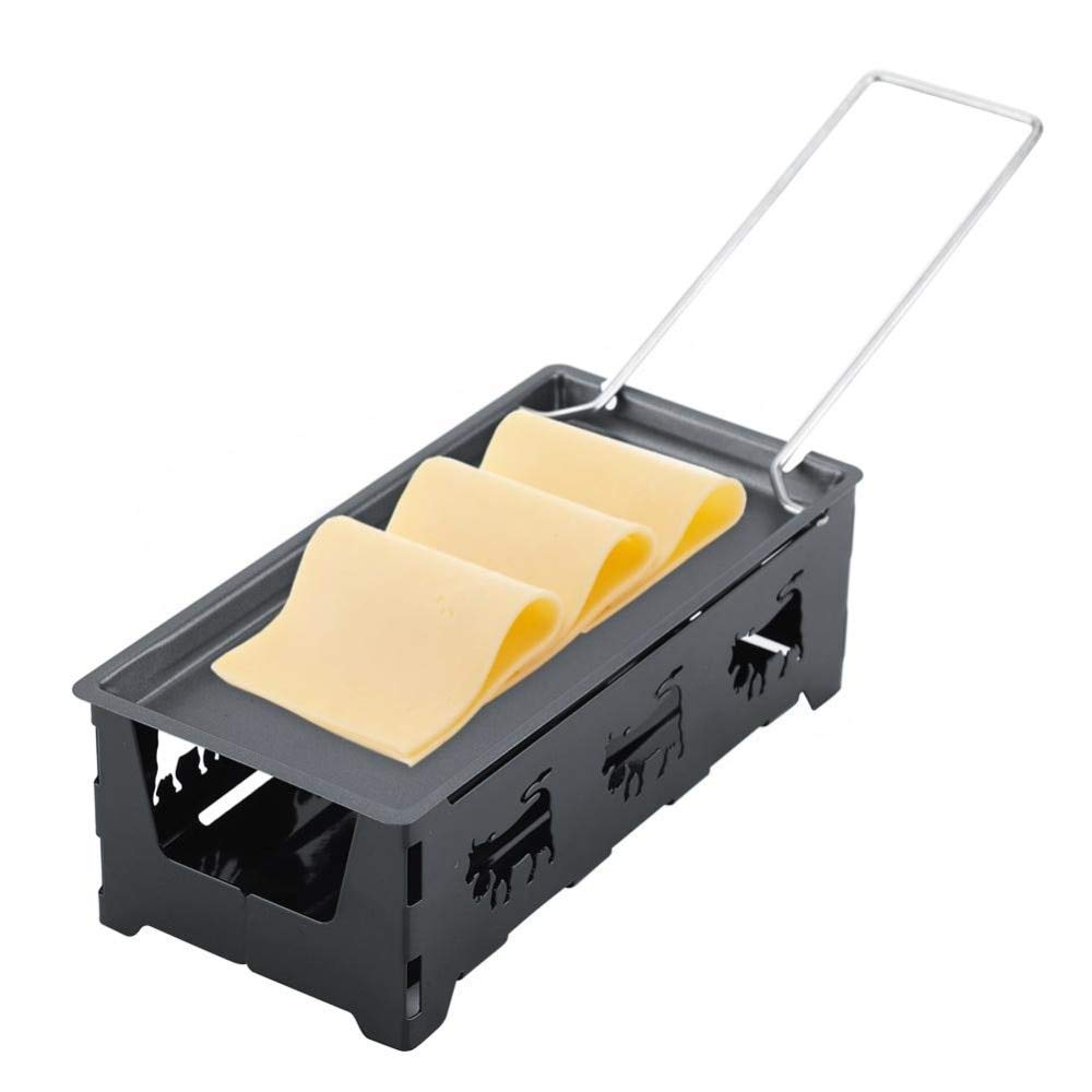 Fumak: Portable Non-Stick Cheese Raclette Rotaster Baking Tray Stove Set Kitchen Baking Trays Cake Mold Tray Baking Dish Pan Oven Grill