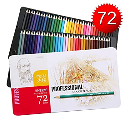 Kasimir Soft Core Color Pencil Set with Tin Box, Pack of 72