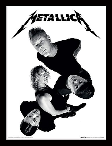 iPosters Metallica Twisted Band Framed 30 x 40 Official Print - Overall Size: 36 x 46 cm (14 x 18 inches) Print Size: 30 x 40 cm