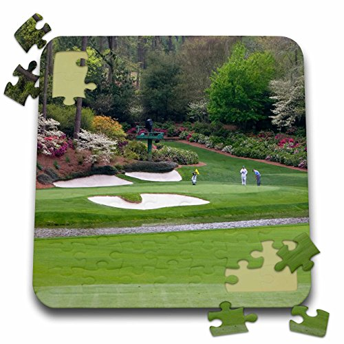 (Angel Wings Designs Golf - Masters - Augustas Amen Corner Golf Course - Where Dreams are Made and Lost - 10x10 Inch Puzzle (pzl_48684_2))