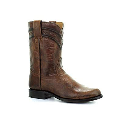 CORRAL Men's Lee Western Honey Narrow Round Toe Cowboy Leather Boots, 7 Wide: Clothing