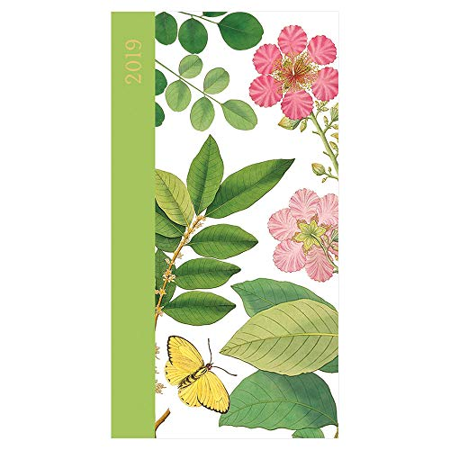 Pocket Calendar 2019 Planner - Daily Planner 2019 Weekly and Monthly -Pocket Planner Floral - Pocket Diary Slim