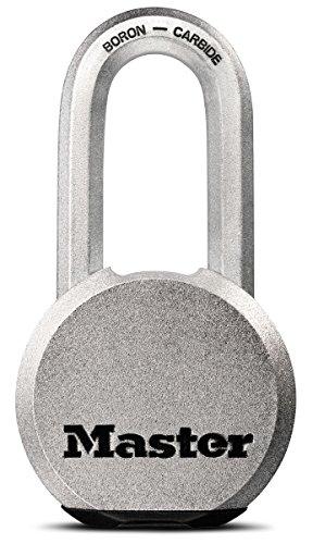 Master Lock Padlock, Magnum Solid Steel Lock, 2-1/2 in. Wide, (Solid Steel Laminated Padlock)