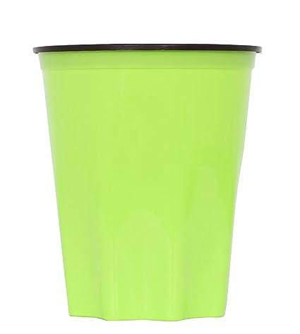 Amazon.com: Hflove Plastic Thickn Trash Bin Green Kitchen ...