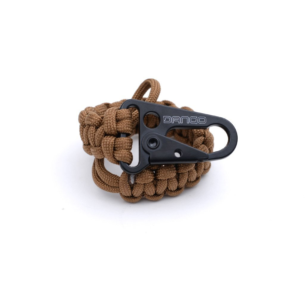 Dango EDC Tether - Cobra Weave 550 Paracord - 6 Inch Woven, 10 Feet Unraveled (Sand)