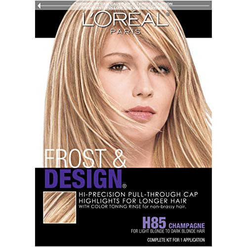 Hair Lightening Kit - L'Oreal Paris Frost and Design Pull-Through Cap Highlights For Long Hair, H85 Frost&Design Champagne
