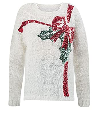 christmas bow jumper