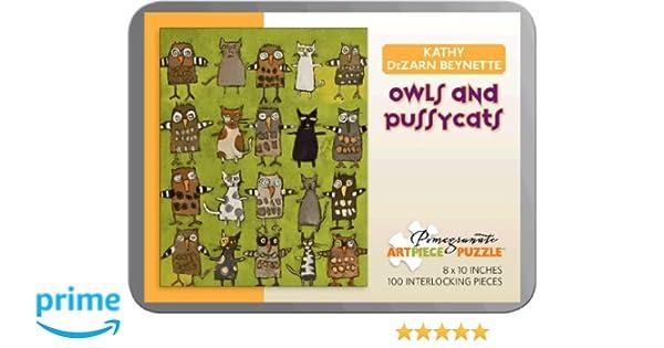 Kathy Beynette Owls Pussycats 100 Piece Puzzle Howard Hughes