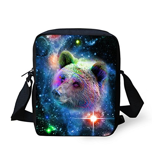 Wolf Baby Bags Coloranimal Messenger bear Pattern Animal Cool for Children qSwqBp6