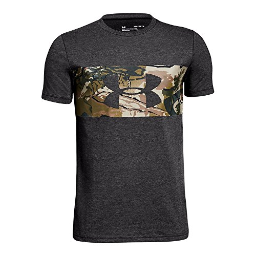 (Under Armour Boys Banded Camo Tee, Charcoal Medium Heat (019)/Charcoal, Youth Large)