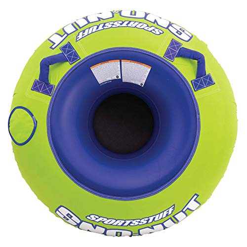 Sportsstuff Sno-Nut Inflatable Snow Tube/Sled with Ultra Durable Nylon Cover (Tub Sledding)