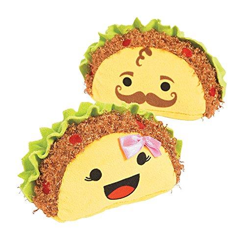 Fun Express - Plush Tacos for Cinco de Mayo - Toys - Plush - Stuffed Non Animal - Cinco de Mayo - 12 -