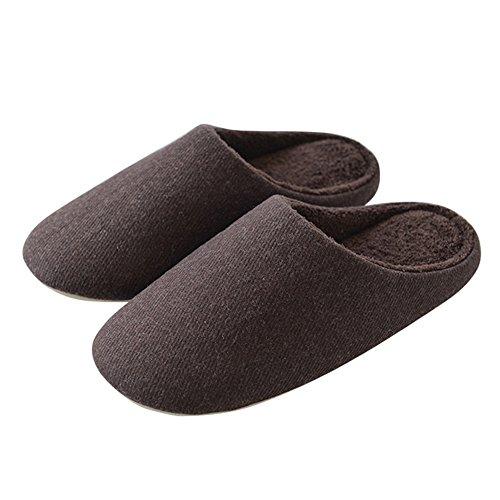 40 Marrone Inverno Zhirong Grigio Dimensioni E Colore Le Acciaio 41 Mute Per Autunno In Coppie Pantofole Di Antisdrucciolevole L U0FawqBU