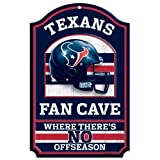 "WinCraft NFL Houston Texans 05448010 Wood Sign, 11"" x 17"", Black"
