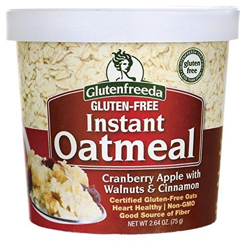 Glutenfreeda Instant Oatmeal - Cranberry Apple with Walnuts & Cinnamon 2.64 oz Pkg