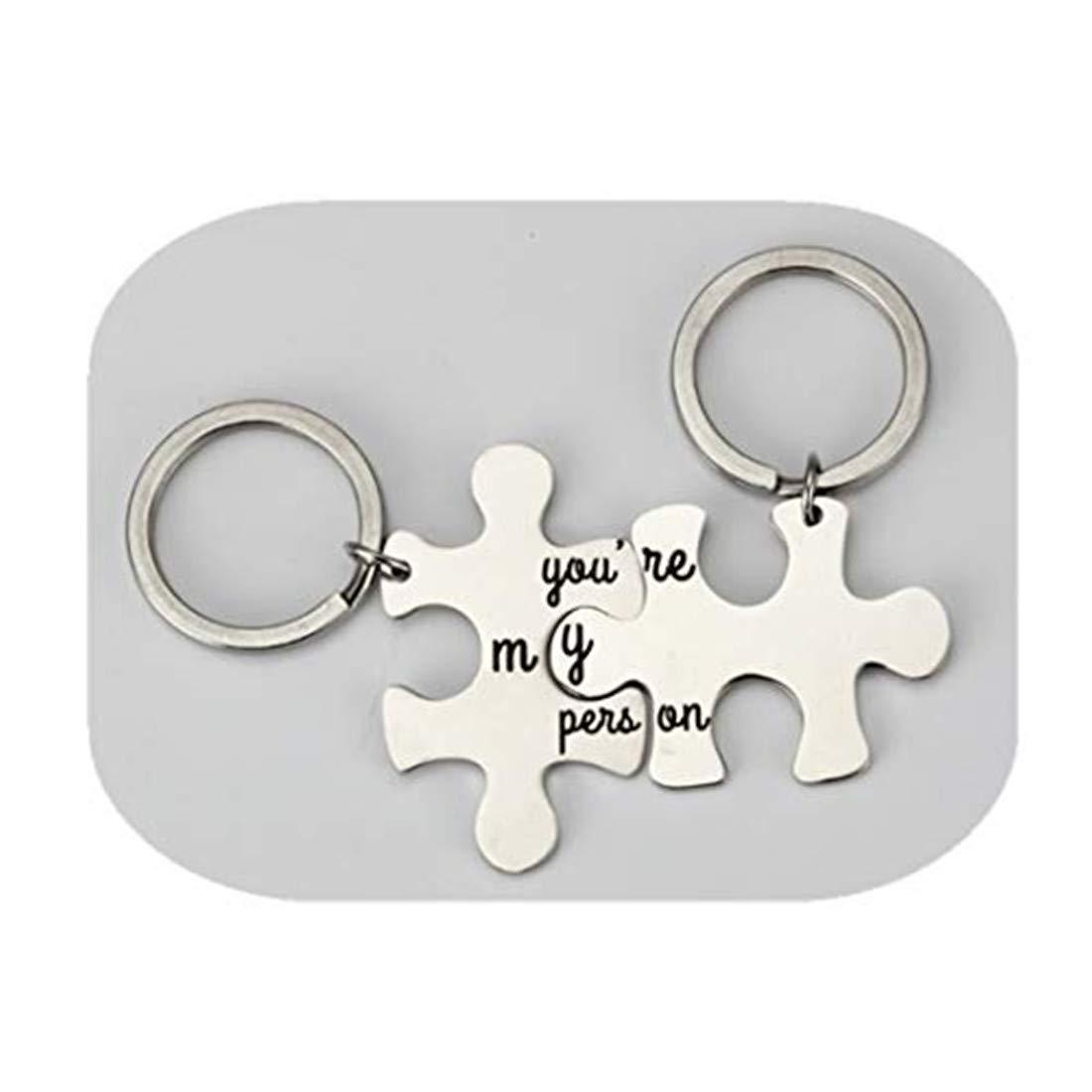 cadeau danniversaire//cadeau K9Aroma Youre My personne Porte-cl/és ou un ensemble de pi/èces de puzzle