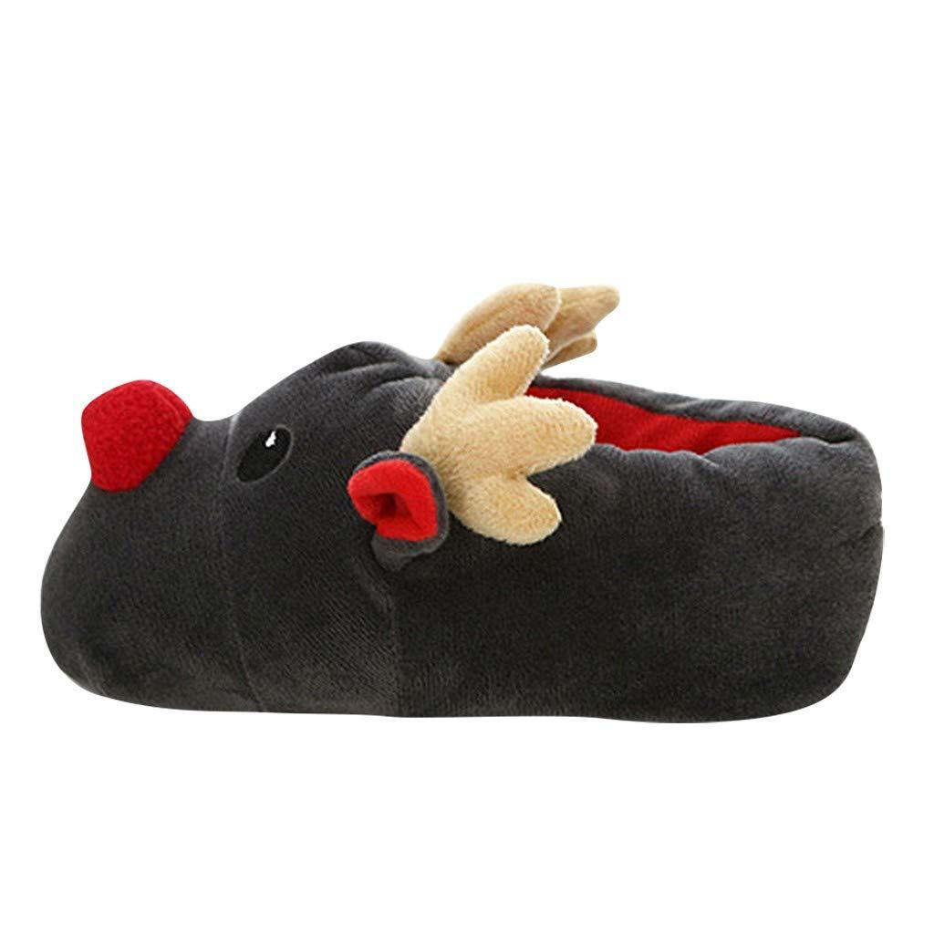 Zapatillas de casa de Invierno de Navidad Zapatos de algod/ón de Felpa Animal Lindo Zapatillas de casa Kawaii
