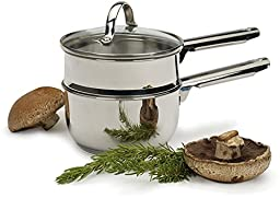 RSVP Mini Double Boiler 1 Qt 18/8 Stainless Steel New