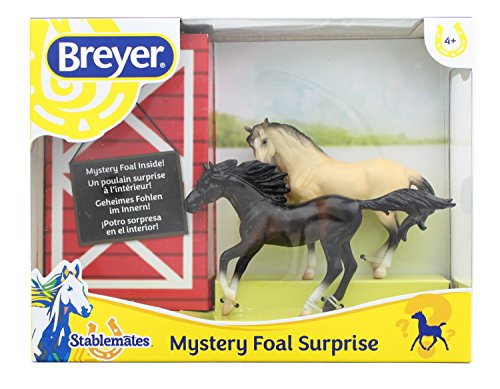 Breyer Foals Fun (Breyer 1:32 Stablemates Foal Surprise Model Horse Set: Bay Mare & Andalusian)
