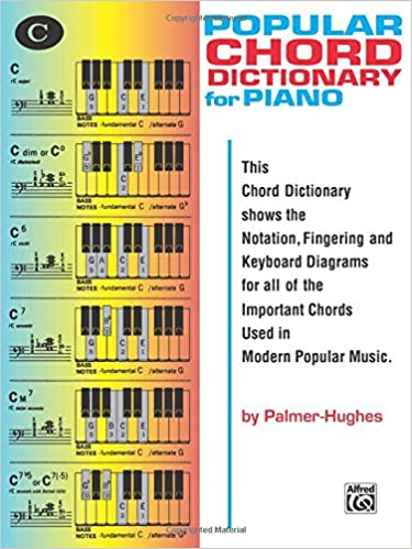 Popular Piano Chord Dictionary Willard A Palmer Ed Hughes