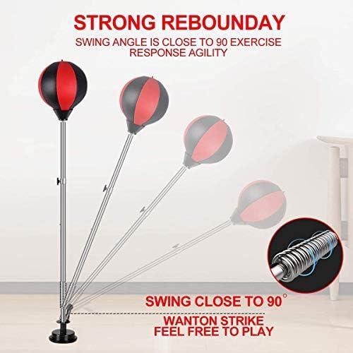 Qdreclod Punching Ball, Saco de Boxeo de pie, Bola de Velocidad con Tubo Inflable Set de Boxeo Pelota para Adultos Niños: Amazon.es: Deportes y aire libre