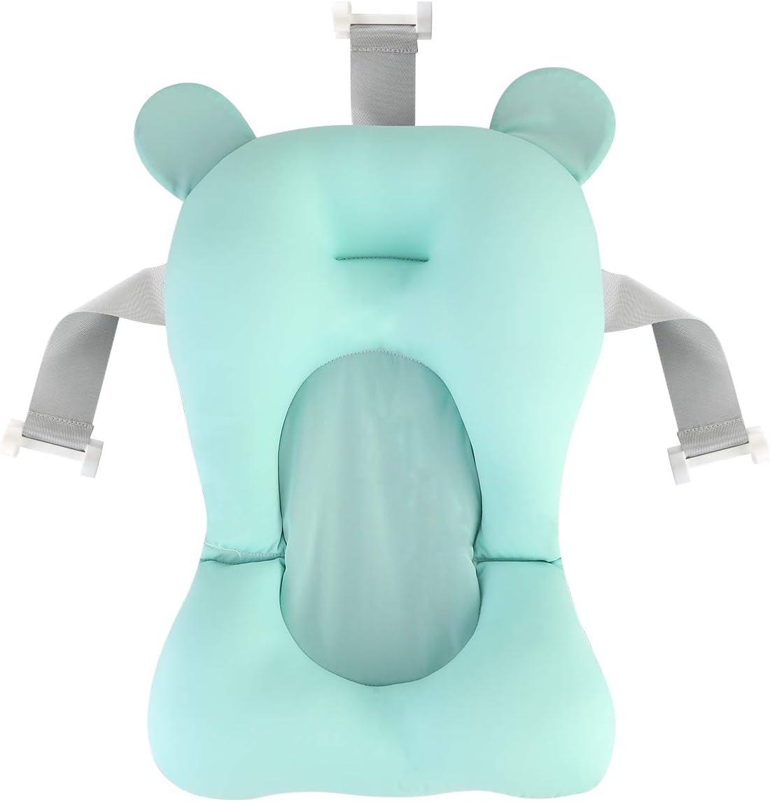 Gojiny Cojín de Baño para Bebés Almohadilla para Bañera para Recién Nacidos Cojín para Bañera con Asiento para Bebé Almohadilla Antideslizante para Bañera Cama de Baño Flotante para Baby Shower