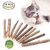 Sweethug Cat Catnip Sticks - 100% Organic Natural Matatabi Dental Treats Teeth Grinding Chew toys Olfactory Enrichment for Cat - Pack of 10 pcs