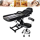 FCH Electric Beauty Bed Adjustable Facial Doctor's Tattoo Massage Chair/Table/Bed Hydraulic Stool Beauty Salon Professional SPA Equipment Black