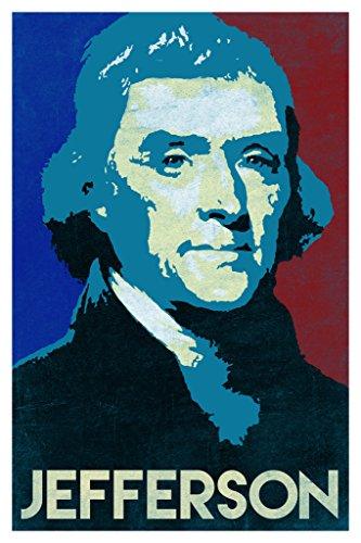 President Thomas Jefferson Pop Art Portrait Poster 12x18
