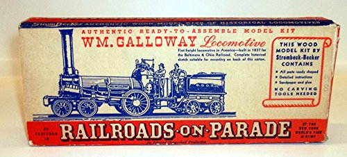New York World's Fair Railroads on Parade Galloway Locomotive model kit BOX 1939