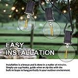 SUNTHIN 27ft Globe Outdoor String Lights LED G40