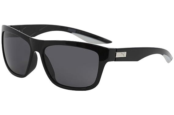Puma PU0060S 002 Gafas de Sol, Negro (Black/Smoke), 58 para ...
