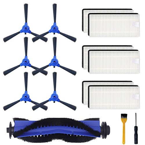 - 15 Pieces Replacement Accessories Kit for Eufy RoboVac 11S, RoboVac 30C, RoboVac 15C, RoboVac 30, RoboVac 35C, RoboVac 12 Accessory, Robotic Vacuum Cleaner Filters, Side Brushes,Rolling Brush