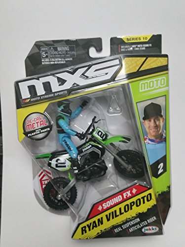 Ryan Villopoto MXS Series 10 Real Suspension & Articulated Rider Dirt Bike & (Riders Bike Shop)