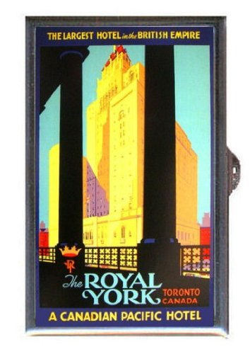 ROYAL YORK CANADIAN PACIFIC HOTEL TORONTO Guitar Pick or Pill Box USA MADE!!