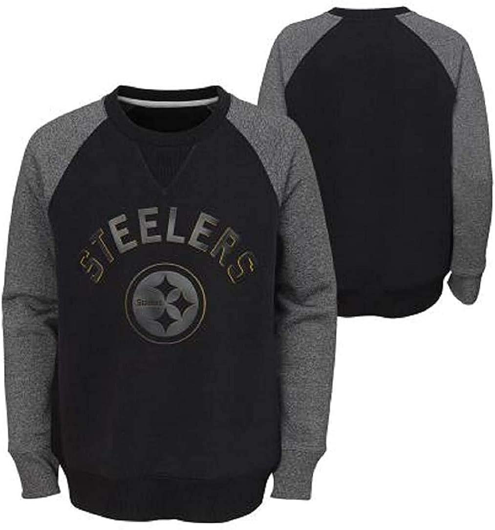 Pittsburgh Steelers NFL Boys Youth Elegant Ragl Max 61% OFF Black 8-20 Gray Titanium