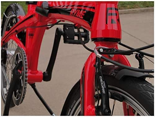 Rymebikes City Bicicleta Plegable, Unisex Adulto, Rojo, Talla Única: Amazon.es: Deportes y aire libre