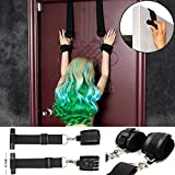 Door Swing Handcuffs Window Hanging Hand Cuffs Fetish Fantasy BDSM Bondage Restraints Harness Wrist Strap Sex Toys Leather Style