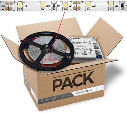 LuzConLed - Kit de tira LED 2 metros 12V 5W Luz azul con transformador - ENVÍO DESDE ESPAÑA: Amazon.es: Iluminación