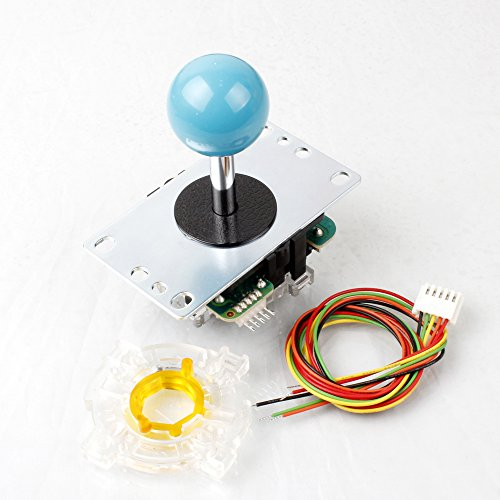 (Sanwa JLF - TP - 8YT Stick 8 Way 5Pin Handle + Sanwa GT-Y Octagonal Gate Compatible Arcade Joystick MadCatz TE Stick Game Mame & Raspberry Pi & PS2 PS3 Xbox 360 DIY Kit Parts (Blue))