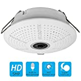 MOBOTIX C25-D12-PW 5MP IP Indoor Ceiling Fisheye Security Camera with HD Microphone & L12 Day Sensor – Made in Germany