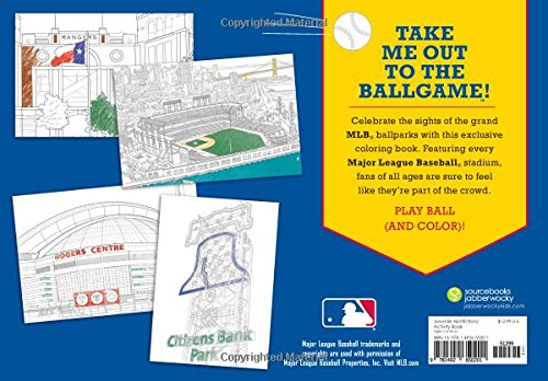Major League Baseball: The Big Coloring Book of Ballparks (Hawk's Nest Activity Books) by Sourcebooks Jabberwocky (Image #1)