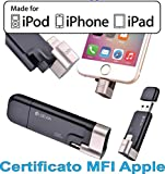 [Apple MFI Certified] Devia USB Flash Drive with Lightning Connector Data Traveler Disk External Storage Memory for iOS 7 & 8 &9 iPhone/iPad/iPod(32GB, USB 2.0, Black)