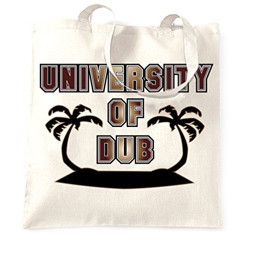 Canvas Tote Shopping Bag Music University Of Dub Design Sound System Bass Line Culture Party Bass Rasta Rastafarian Step Jamaica Lion Graduate College Uni Cute Reusable Handbag for (University Bass Bag)