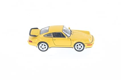 "Welly Porsche 964 Turbo, Yellow 43611D - 5"" Long Diecast Model Toy Car but"