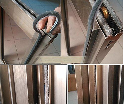 6mm X 12mm Aluminum Sliding Door Window Brush Seal