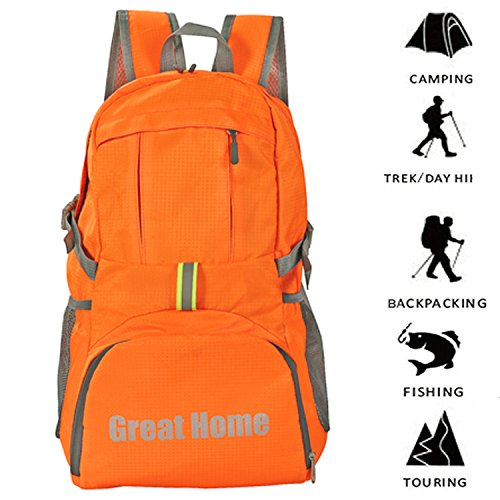 Price comparison product image Packable Backpack, Foldable Backpack Travel Backpack Great Home Hiking Backpack Lightweight Backpack Daypack for Outdoor Camping