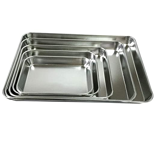 Steellwingsf - Bandeja rectangular para horno, galletas, pizza ...